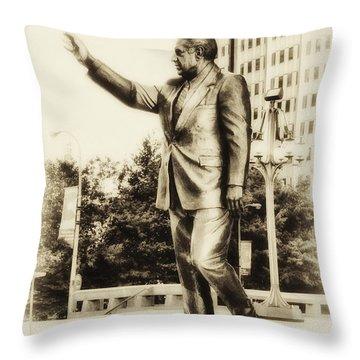 Philadelphia Mayor - Frank Rizzo Throw Pillow by Bill Cannon