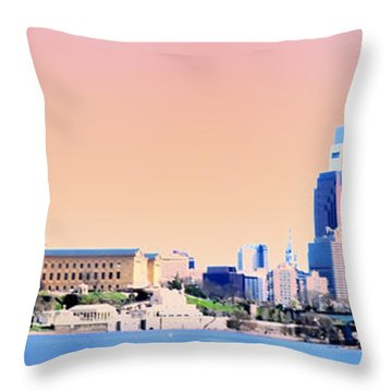Philadelphia Panoramic Throw Pillow by Bill Cannon