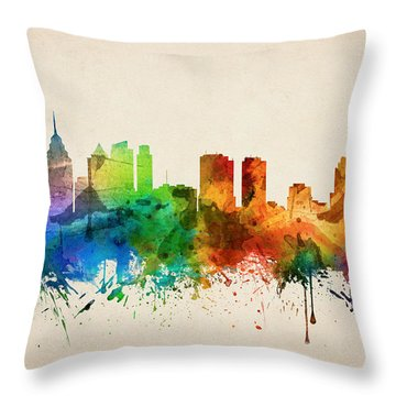 Philadelphia Pennsylvania Skyline 05 Throw Pillow by Aged Pixel