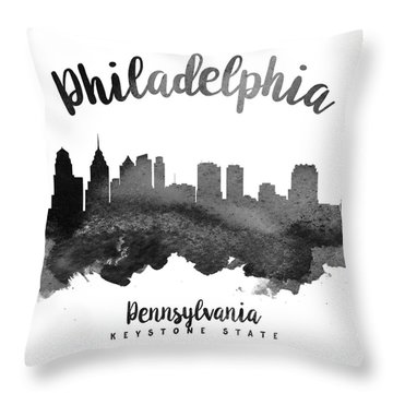 Philadelphia Pennsylvania Skyline 18 Throw Pillow by Aged Pixel