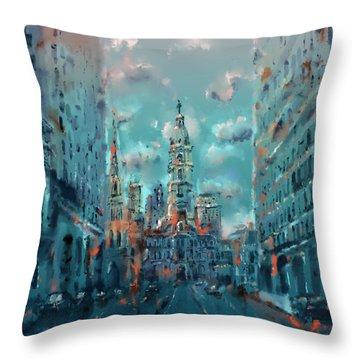 Philadelphia Street Throw Pillow