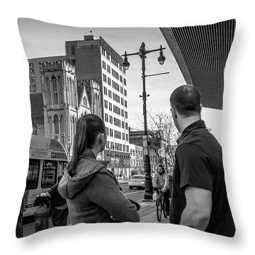 Philadelphia Street Photography - Dsc00248 Throw Pillow
