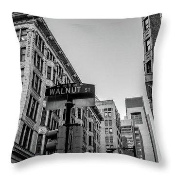 Philadelphia Urban Landscape - 0980 Throw Pillow