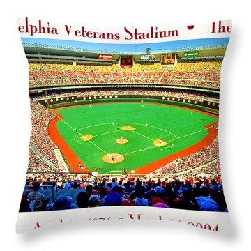 Philadelphia Veterans Stadium The Vet Throw Pillow
