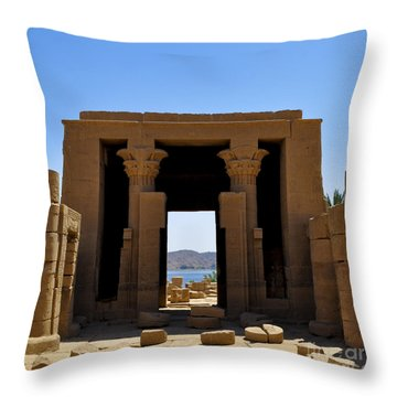 Philae Temple Throw Pillow