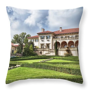 Throw Pillow featuring the photograph Philbrook Museum Tulsa Oklahoma Photograph  by Ann Powell