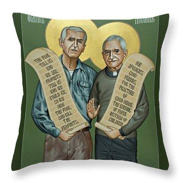 Philip And Daniel Berrigan Throw Pillow