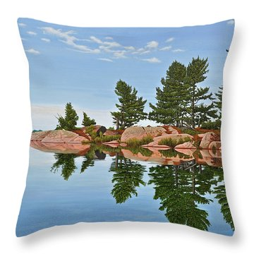 Throw Pillow featuring the painting Philip Edward Island by Kenneth M Kirsch