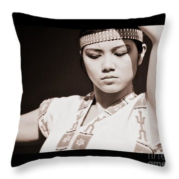 Philippino Dancer Throw Pillow