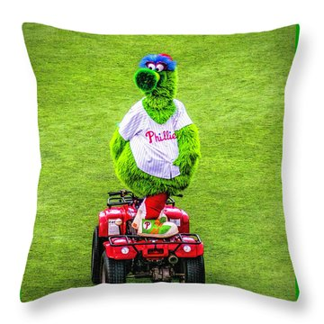Phillie Phanatic Scooter Throw Pillow