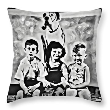 Philly Kids With Petey The Dog Throw Pillow