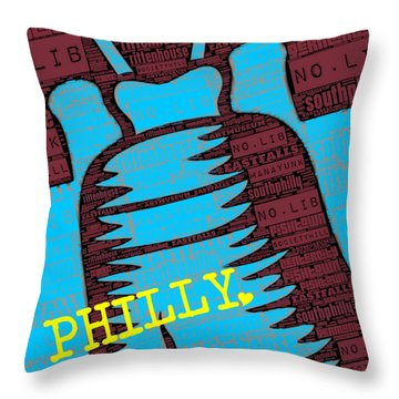 Philly Liberty Bell Throw Pillow