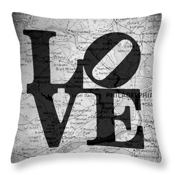 Philly Love V13 Throw Pillow