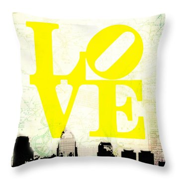 Philly Love V14 Throw Pillow