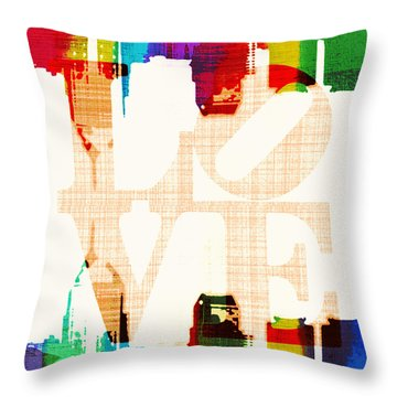 Philly Love V5 Throw Pillow