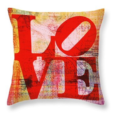Philly Love V6 Throw Pillow