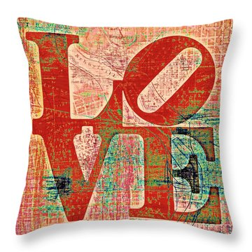 Philly Love V7 Throw Pillow