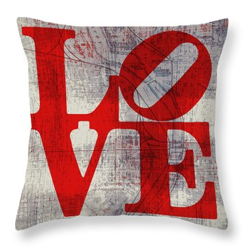 Philly Love V8 Throw Pillow