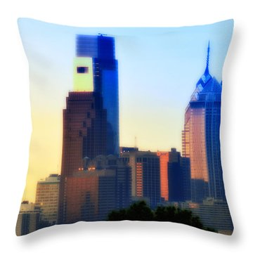 Philly Morning Throw Pillow by Bill Cannon