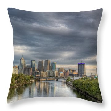 Philly River 2 Throw Pillow