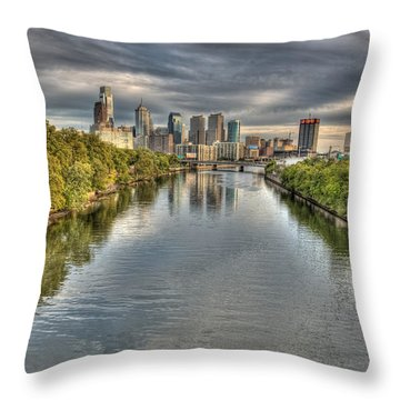 Philly River Throw Pillow
