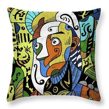 Throw Pillow featuring the digital art Philosopher by Sotuland Art