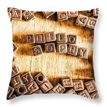 Philosophy Word Art Throw Pillow