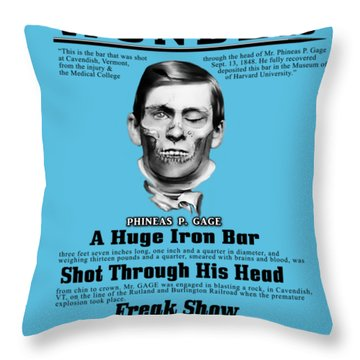 Phineas Gage World's Wonder Throw Pillow
