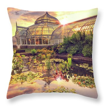 Lilys At Phipps  Throw Pillow