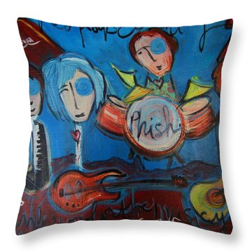 Phish For Red Rocks Amphitheater Throw Pillow