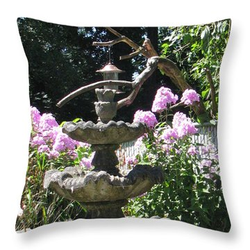 Phlox Garden Throw Pillow by Judyann Matthews