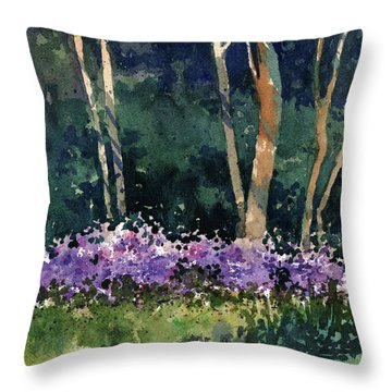 Phlox Meadow, Harrington State Park Throw Pillow