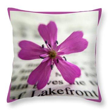 Phlox Print Throw Pillow