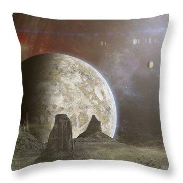 Phobos Throw Pillow by Mark Allen