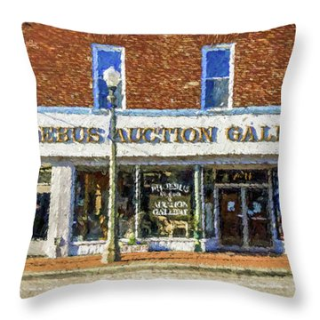 Phoebus Auction Gallery Throw Pillow