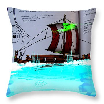 Phoenician Night Voyagers  Throw Pillow
