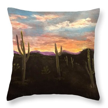 Phoenix Az Sunset Throw Pillow