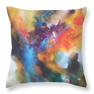 Phoenix Throw Pillow by Becky Chappell