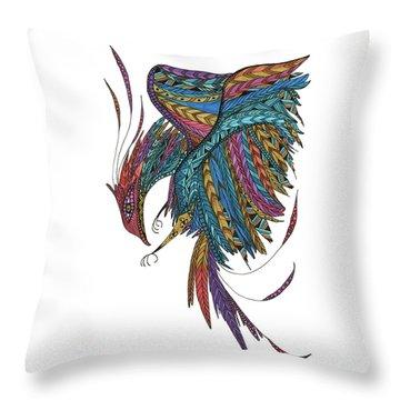 Phoenix Landing Throw Pillow