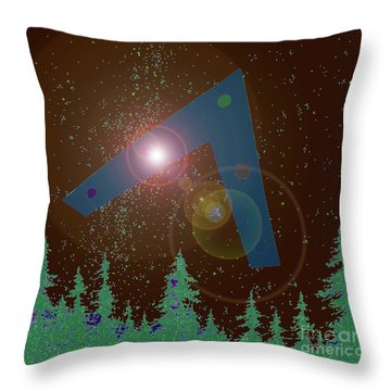 Throw Pillow featuring the painting Phoenix Lights Ufo by James Williamson