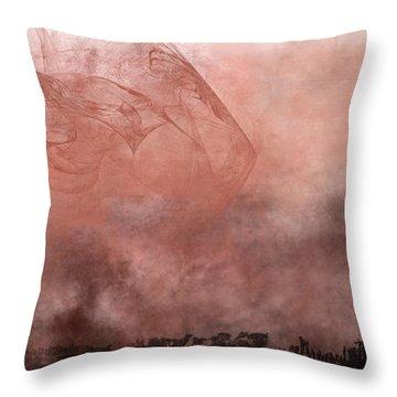 Phoenix Rising Throw Pillow by Christopher Gaston