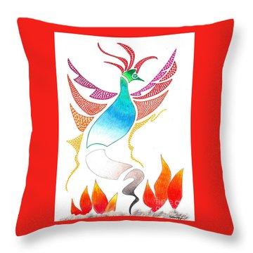 Phoenix Rising Throw Pillow