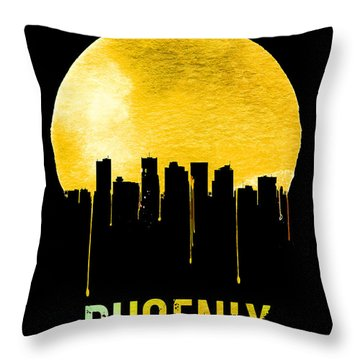 Phoenix Skyline Yellow Throw Pillow by Naxart Studio