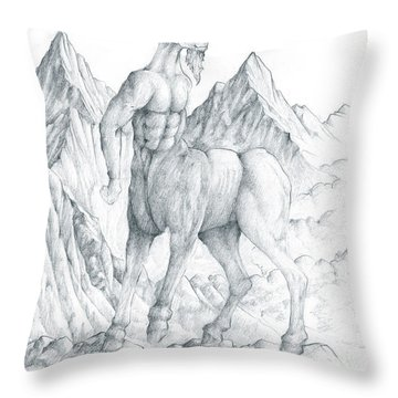 Pholus The Centauras Throw Pillow by Curtiss Shaffer