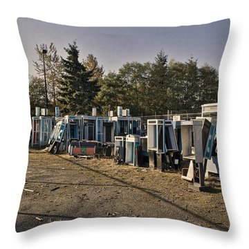 Phone Booth Graveyard Throw Pillow by Kelley King