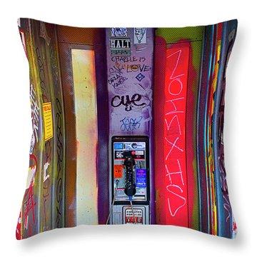 Phone Graffiti Series 5 Throw Pillow