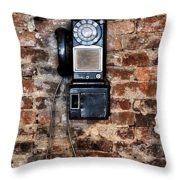 Pay Phone  Throw Pillow
