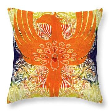 Phonix Rising Abstract Healing Art By Omashte Throw Pillow