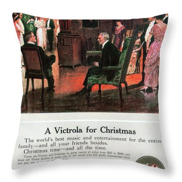 Phonograph, 1914 Throw Pillow by Granger