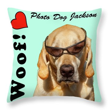 Photo Dog Jackson Mug Throw Pillow